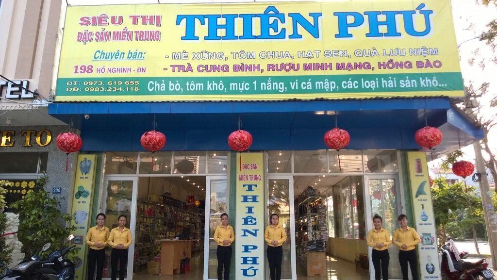 đây là cửa hàng đặc sản thiên phú nổi tiếng nhất tại thành phố đà nẵng